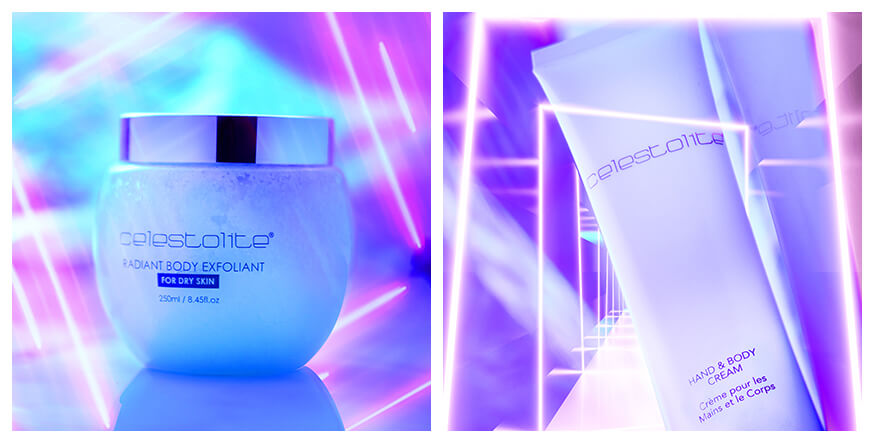 body care collection with light background